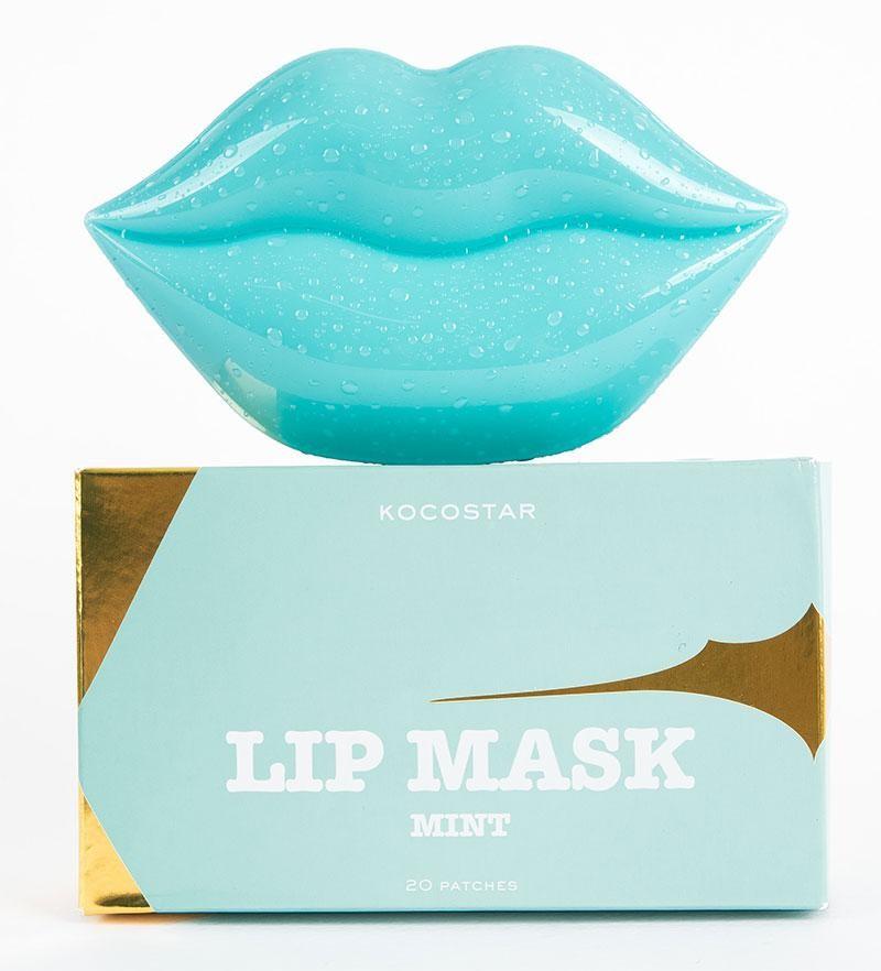 KOCOSTAR Патчи гидрогелевые для губ, с ароматом зеленого винограда, мятные / Lip Mask Mint Single Pouch Green Grapes Flavor 20 шт / 50 г - Патчи