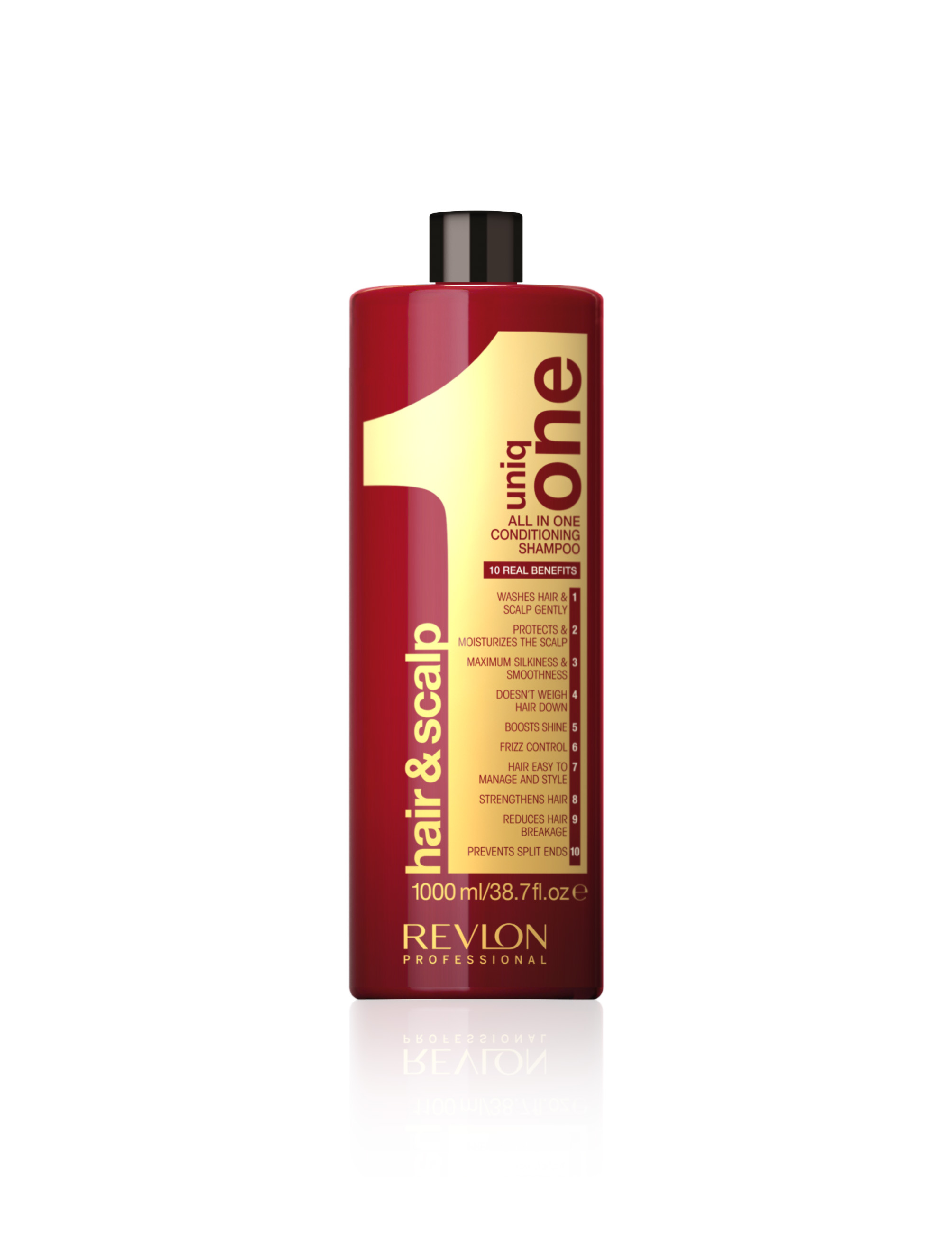 REVLON Professional Шампунь-кондиционер для воллос / UNIQ ONE SHAMPOO 1000 мл шампуни revlon professional шампунь кондиционер uniq one conditioning shampoo 300 мл