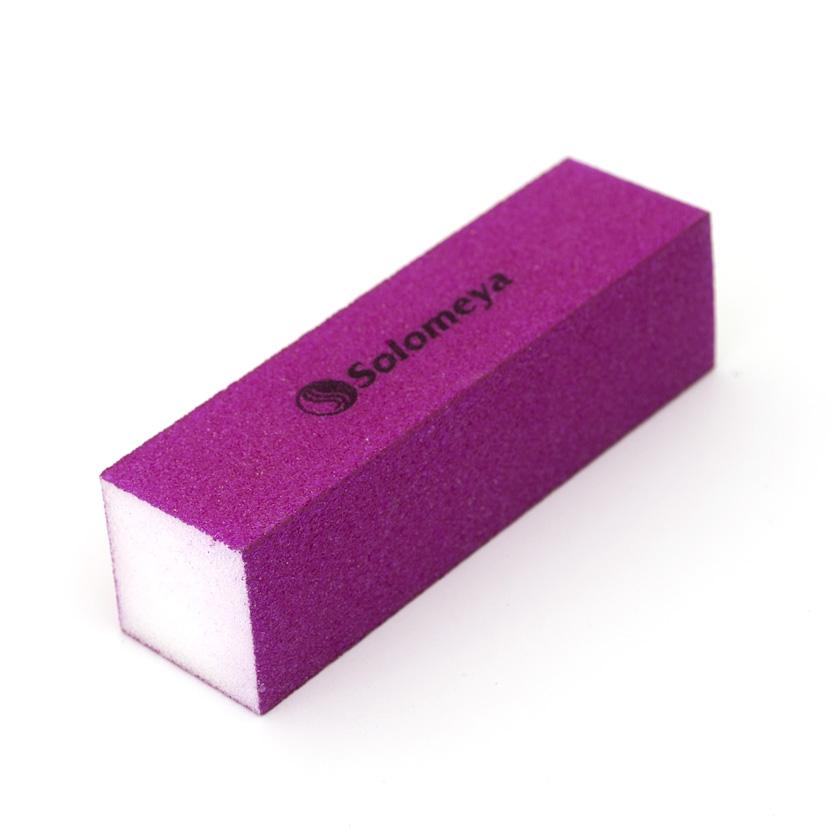 SOLOMEYA Блок-шлифовщик для ногтей фиолетовый / Puprle Sanding BlockПилки для ногтей<br>Блок-шлифовщик Solomeya предназначен для обработки искусственных ногтей, а также ногтей с тканевыми покрытиями. Прекрасно сглаживает все неровности, не повреждая кутикулу. Шлифовщик изготовлен из полиэтиленовой пены высокого качества, благодаря чему сохраняет свои свойства в течение длительного времени. Рекомендуется для профессионального и домашнего использования.<br>