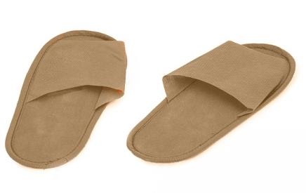 IGRObeauty Тапочки ЭВА, нескользящие на жесткой подошве, открытый мыс, размер 39, цвет бежевый 1 пара