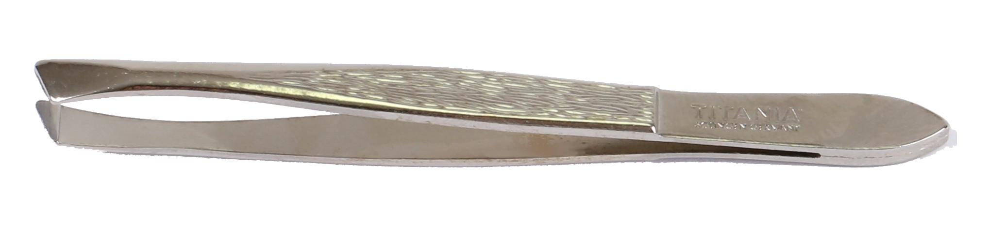 TITANIA Пинцет скошенный большой 1066