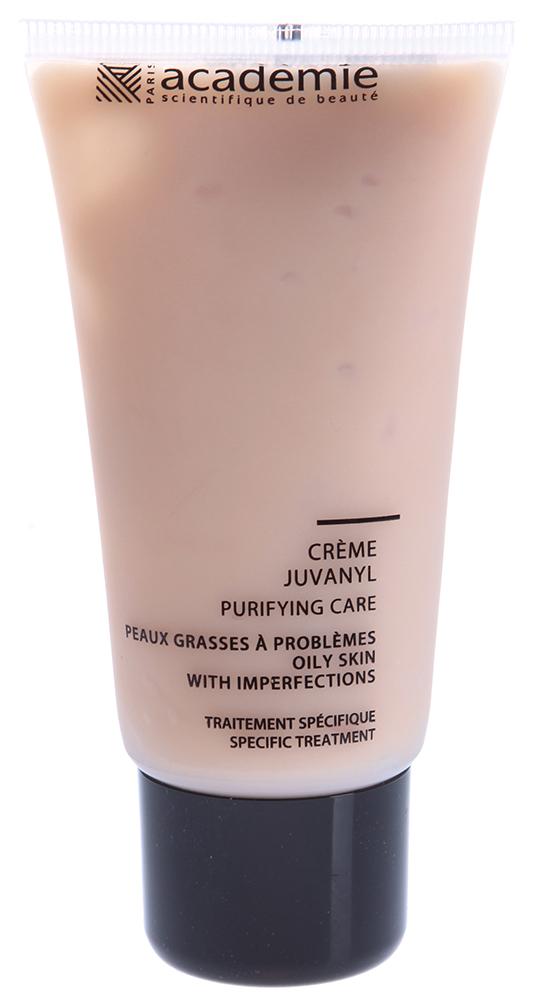 ACADEMIE Крем очищающий Юванил / VISAGE 50млКремы<br>Крем для комбинированной и жирной проблемной кожи. Избавляет от избыточного салоотделения, сужает поры, обладает сильным антибактериальным и заживляющим действием. Обеспечивает коже необходимое увлажнение. Результат: Матовая и чистая кожа без высыпаний. Активные ингредиенты: гидролизат лактат: 10%, каолин: 3.6%, комплекс серы: 1%, гипоаллергенный активный ингредиент: 0.2%,&amp;nbsp;камфора: 0.10%, концентрация активных ингредиентов 14,90%. Способ применения:&amp;nbsp;использовать 1-2 раза в день. Нанести крем на очищенную и тонизированную кожу, впитать массажными движениями.<br><br>Вид средства для лица: Очищающий