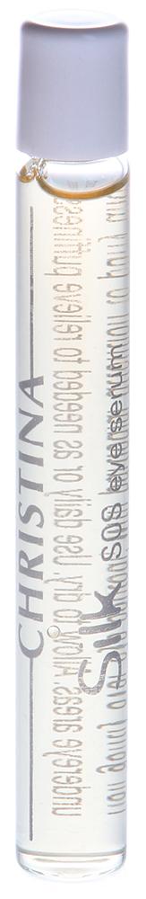 CHRISTINA Сыворотка для подтяжки кожи вокруг глаз / SOS Eye Serum SILK 10млСыворотки<br>Действие: Сыворотка с шелковистой консистенцией на основе липидов тутового шелкопряда и овощных экстрактов наполняет кожу жизненно необходимыми веществами, оказывает мощное подтягивающее и разглаживающее действие, уменьшает количество мелких морщин, увлажняет и восстанавливает нежную кожу вокруг глаз. В результате кожа омолаживается и приобретает здоровый вид. Состав: Деионизированная вода, гидролизованный пшеничный протеин, ирландский мох, маннитол, декстрин, декстран, мочевина, сахарид гидролизат, магния вспарагинат, глицин, аланин, креатин, розовая вода, глицерин, экстракт листьев камелии китайской, экстракт водорослей, ксантановая смола, липиды тутового шелкопряда. Применение: Аккуратно провести роликом по контуру глаз, уделяя особое внимание отекам и темным кругам под глазами. Дать высохнуть. Ежедневно наносить под крем. Можно использовать в течение дня для освежения макияжа.<br><br>Объем: 10<br>Вид средства для лица: Разглаживающий<br>Назначение: Морщины