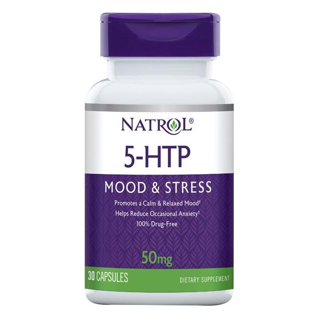 NATROL Добавка биологически активная к пище Натрол 5-гидрокситриптофан / 5-HTP 50 мг 30 капсул  - Купить