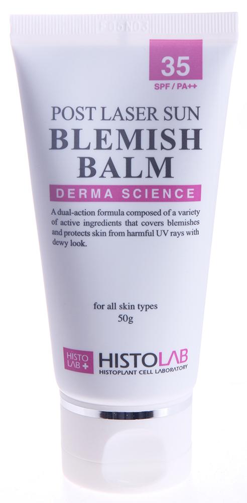 HISTOLAB Бальзам тональный c SPF35 / Post Laser Sun Blemish Balm 50млБальзамы<br>Увлажняет, регенерирует, осветляет кожу, предотвращает поствоспалительную пигментацию, защищает от инсоляции. Обладает противовоспалительным и антиоксидантным действием. Подходит для всех типов кожи после пластической хирургии, лазерной терапии, химических пилингов, дермабразии. Активные ингредиенты: сок листа алое вера, экстракты риса посевного, цветка календулы, тыквы, гиалуронат натрия, пчелиный воск, арбутин, витамины А, В5, диоксид титана. Способ применения: нанесите бальзам на кожу и равномерно распределите.<br><br>Вид средства для лица: Пчелиный