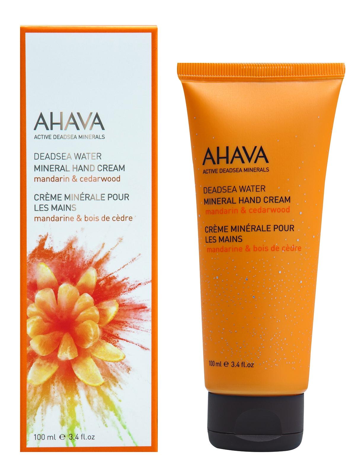 AHAVA Крем минеральный для рук, мандарин и кедр / Deadsea Water 100 мл