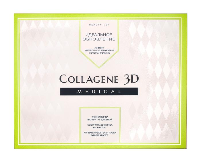 Купить MEDICAL COLLAGENE 3D Набор подарочный Идеальное обновление для лица (гель-маска 30 мл, крем 30 мл, сыворотка 30 мл)