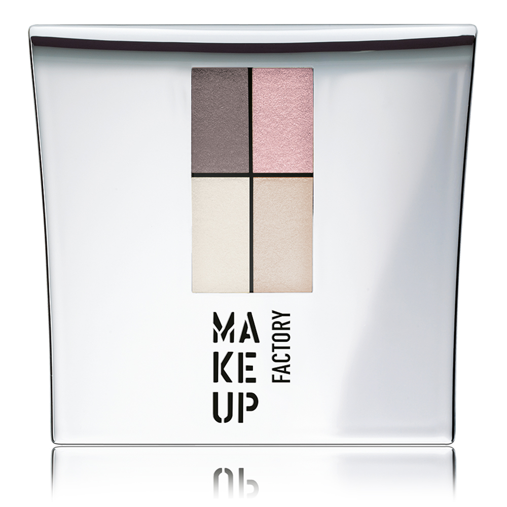 MAKE UP FACTORY Тени 4-х цветные для глаз, 85 темный коричневый  розовый  абрикос  беж / Eye Colors 4,8 г -  Тени