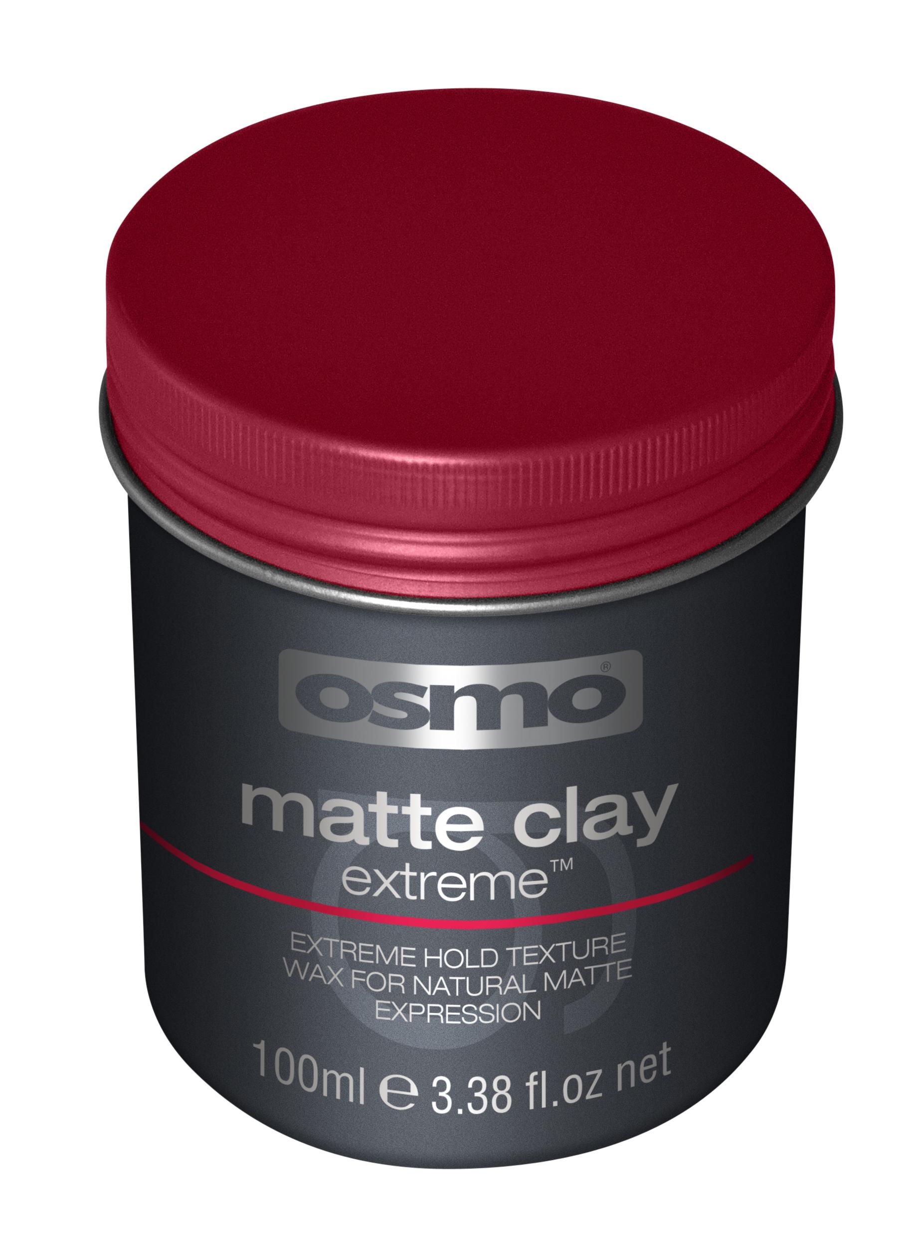 OSMO Глина-воск экстрасильной фиксации с матовым эффектом, степень фиксации 5 / Matte Clay Extreme 100 мл - Воски