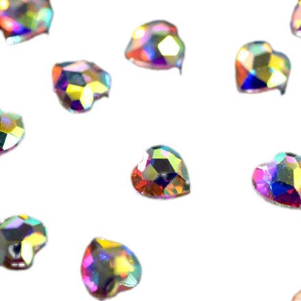 PATRISA NAIL Стразы фигурные Сердечко супер-голография 4*5,5 мм 10 шт