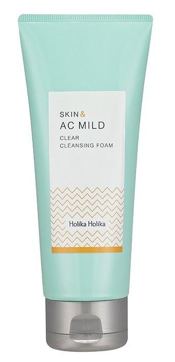 HOLIKA Пенка очищающая для проблемной кожи Скин энд AC Милд / Skin & Mild Clear Cleansing Foam 150 мл