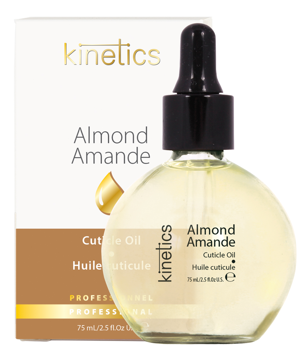 "KINETICS Масло ""Almond"" (в коробке) (с пипеткой) Миндаль 75мл"