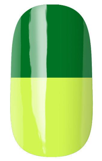 RuNail Гель-лак термо, темно-зеленый - лимонный / Thermo 7 мл runail дизайн для ногтей ракушки 0284