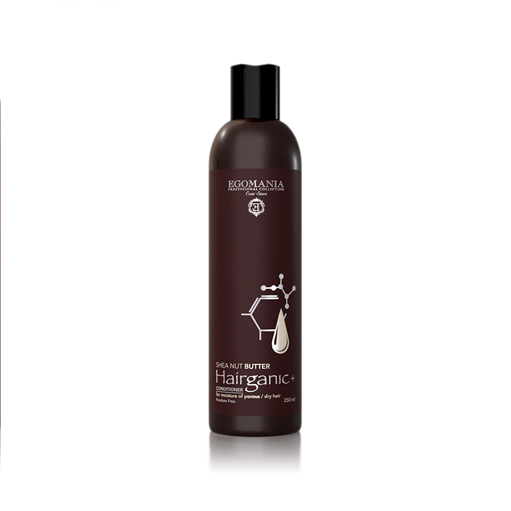 EGOMANIA Кондиционер с маслом ши для увлажнения пористых, сухих волос / HAIRGANIC, 250 мл