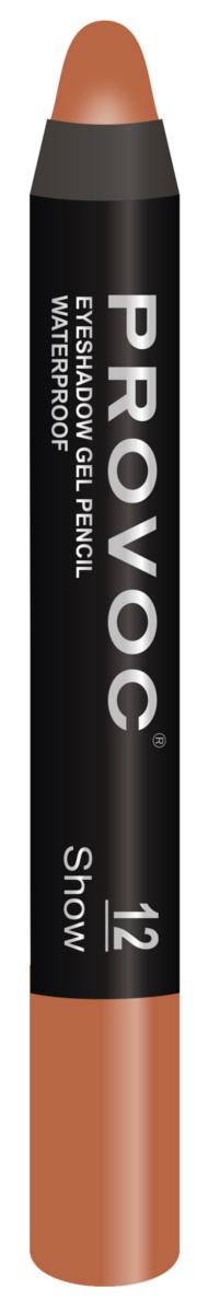 Купить со скидкой PROVOC Тени-карандаш водостойкие шиммер, 12 медный / Eyeshadow Pencil 2,3 г
