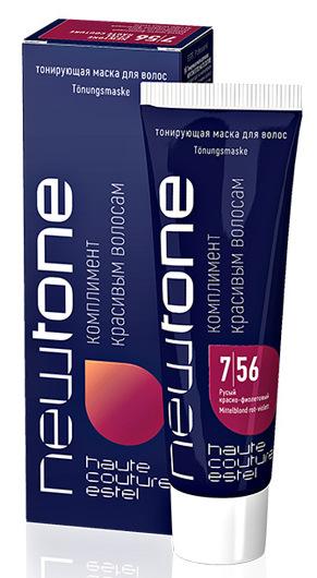 ESTEL HAUTE COUTURE 7/56 маска тонирующая для волос, русый красно-фиолетовый / NEWTONE 60 мл  - Купить