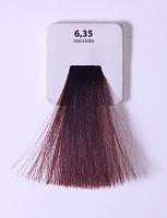 KAARAL 6.35 краска для волос / Sense COLOURS 100млКраски<br>6.35 темный золотисто-махагоновый блондин (интенсивный орех) Перманентные красители. Классический перманентный краситель бизнес класса. Обладает высокой покрывающей способностью. Содержит алоэ вера, оказывающее мощное увлажняющее действие, кокосовое масло для дополнительной защиты волос и кожи головы от агрессивного воздействия химических агентов красителя и провитамин В5 для поддержания внутренней структуры волоса. При соблюдении правильной технологии окрашивания гарантировано 100% окрашивание седых волос. Палитра включает 93 классических оттенка. Способ применения: Приготовление: смешивается с окислителем OXI Plus 6, 10, 20, 30 или 40 Vol в пропорции 1:1 (60 г красителя + 60 г окислителя). Суперосветляющие оттенки смешиваются с окислителями OXI Plus 40 Vol в пропорции 1:2. Для тонирования волос краситель используется с окислителем OXI Plus 6Vol в различных пропорциях в зависимости от желаемого результата. Нанесение: провести тест на чувствительность. Для предотвращения окрашивания кожи при работе с темными оттенками перед нанесением красителя обработать краевую линию роста волос защитным кремом Вaco. ПЕРВИЧНОЕ ОКРАШИВАНИЕ Нанести краситель сначала по длине волос и на кончики, отступив 1-2 см от прикорневой части волос, затем нанести состав на прикорневую часть. ВТОРИЧНОЕ ОКРАШИВАНИЕ Нанести состав сначала на прикорневую часть волос. Затем для обновления цвета ранее окрашенных волос нанести безаммиачный краситель Easy Soft. Время выдержки: 35 минут. Корректоры Sense. Используются для коррекции цвета, усиления яркости оттенков, создания новых цветовых нюансов, а также для нейтрализации нежелательных оттенков по законам хроматического круга. Содержат аммиак и могут использоваться самостоятельно. Оттенки: T-AG - серебристо-серый, T-M - фиолетовый, T-B - синий, T-RO - красный, T-D - золотистый, 0.00 - нейтральный. Способ применения: для усиления или коррекции цвета волос от 2 до 6 уровней цвета корректоры доба