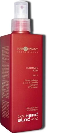 HAIR COMPANY Средство для защиты цвета волос / Color Safe Fluid HW ENERGY 250млСпреи<br>Многофункциональное средство с антиоксидантными и защитными свойствами. Продлевает стойкость цвета окрашенных волос. Защищает волосы от УФ-лучей и тепловой обработки. Придает окрашенным волосам блеск и шелковистость. Активные ингредиенты: экстракт грецкого ореха, хелиогенол (специально разработанная добавка из цветков подсолнечника), витамин Е. Способ применения: перед подсушиванием нанести методом распыления по всей длине волос, распределить при помощи расчески. Не смывая, высушить или уложить волосы.<br><br>Типы волос: Окрашенные