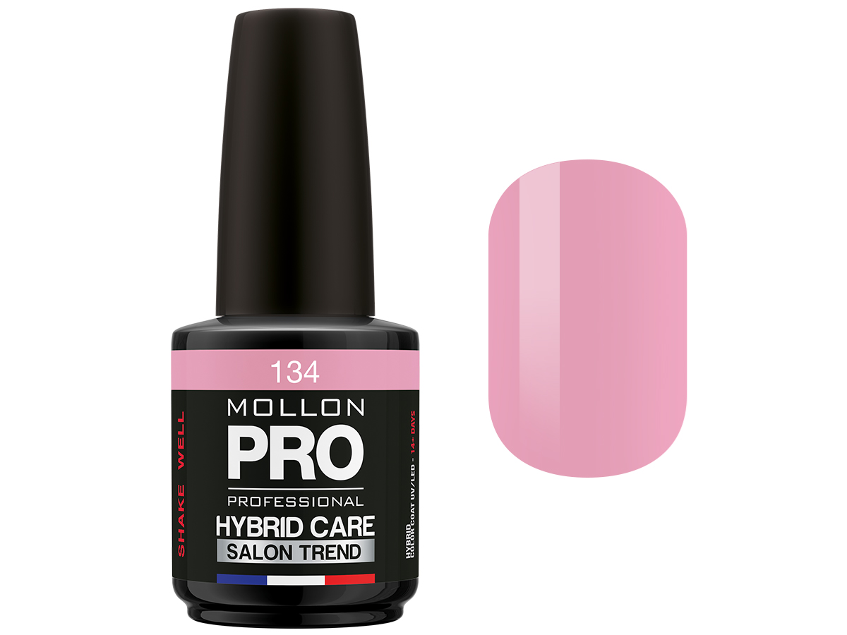 MOLLON PRO Гель-лак для ногтей HybridCare Salon Trend UV/LED / Color Coat  134 12мл