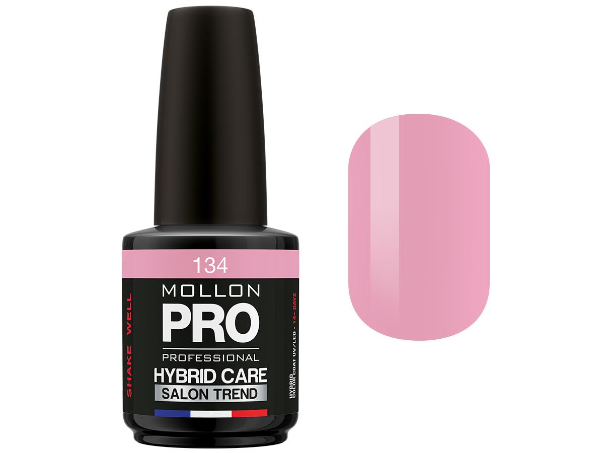MOLLON PRO Гель-лак для ногтей HybridCare Salon Trend UV/LED / Color Coat  134 12млГель-лаки<br>Гель-лак для ногтей HybridCare Salon Trend UV/LED. Активные ингредиенты: Состав/Ingredients: TETRAHYDROFURFURYL METHACRYLATE, DI-HEMA TRIMETHYLHEXYL DICARBAMATE, PPG 5 METHACRYLATE, HEMA, HYDROXYPROPYL METHACRYLATE, BUTYL ACETATE, ETHYL ACETATE, ACETONE, NITROCELLULOSE, TRIMETHYLBENZOYL DIPHENYLPHOSPHINE OXIDE, 1-HYDROXYCYCLOHEXYL PHENYL KETONE, PHTHALIC ANHYDRIDE/TRIMELLITIC ANHYDRIDE/GLYCOL COPOLYMER, ISOPROPYL ALCOHOL, CI 77891, CI 77491, CI 75470, CI 77510, CI 77499, CI 77000, CI 19140, CI 15880, CI 15850, CI 15850, CI 12085, CI 73360, CI 77007, CI 42090, CI 77742, CI 77266, CI 77163, POLYETHYLENE TEREPHTHALATE, ISOBUTYLPHENOXY EPOXY RESIN, POLYURETHANE -11, STEARALKONIUM HECTORITE, ADIPIC ACID/FUMARIC ACID/PHTHALIC, ACID/TRICYCLODECANE DIMETHANOL COPOLYMER, CITRIC ACID, STYRENE/ACRYLATES COPOLYMER, ACETYL TRIBUTYL CITRATE, PHOSPHORIC ACID. Способ применения: нанести два слоя гель-лака на обезжиренную ногтевую пластину. Полимеризировать каждый слой 2 мин. в лампе УФ или 1 мин. в LED лампе.<br><br>Цвет: Розовые