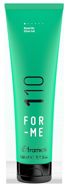 FRAMESI Гель с антижелтым эффектом для седых и светлых волос / FOR-ME 110 BLEND ME SILVER GEL 150 мл  - Купить