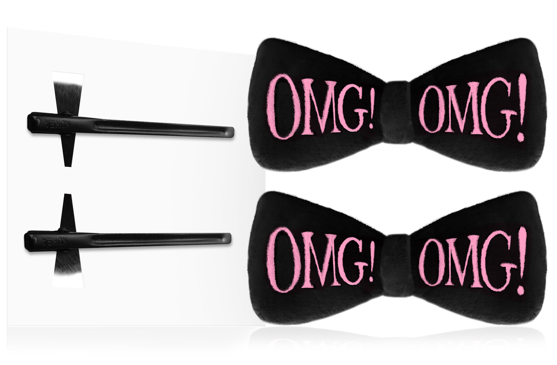 DOUBLE DARE OMG! Заколки для фиксации волос во время косметических процедур, черные / SPA -  Зажимы