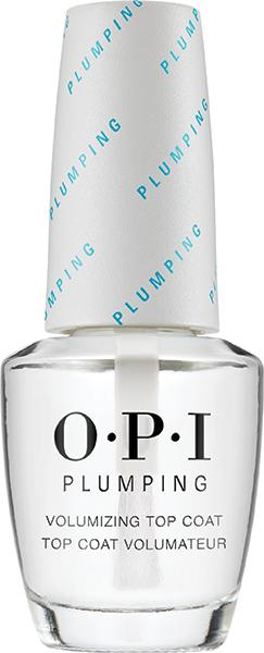 OPI Покрытие верхнее для придания объема маникюру / OPI Plumping Top Coat 15млВерхние покрытия<br>Верхнее покрытие для мгновенного объема и внешней имитации  гелевого покрытия  и придания глянцевого блеска. Толщина ногтей визуально увеличивается и ногти становятся более крепкими. Покрытие придает интенсивный блеск и предотвращает сколы, удлиняет срок носки, предотвращает пожелтение ногтей и образование пятен.<br>