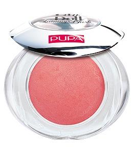 PUPA Румяна запеченные 102 Like A Doll Luminys Blush сияющий розовый, 3,5грРумяна<br>Цвет - SHINY ROSE. Мягкая шелковистая текстура, обогащенная мелкими драгоценными жемчужинками, подсвечивает кожу и придает лучезарность. Способ применения: подсвечивающий эффект рекомендуется для менее пористой, нормальной и сухой кожи, поскольку жемчужинки в составе румян делают поры заметнее. Низкий риск возникновения аллергии. Дерматологически тестированы. Без парабенов.<br><br>Объем: 3,5 гр