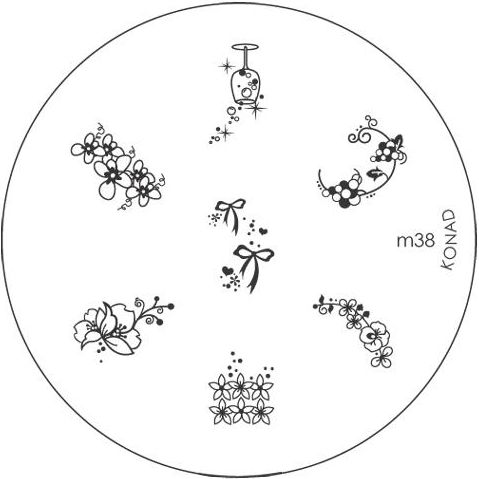 KONAD Форма печатная (диск с рисунками) / image plate M38 10гр декор для маникюра konad печатная форма диск image plate m102