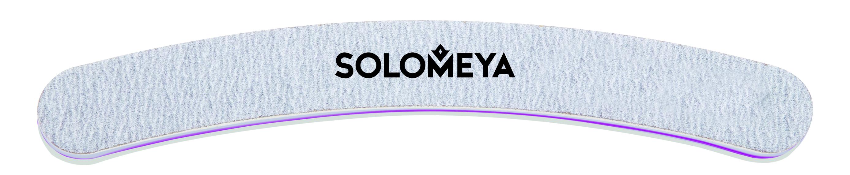 SOLOMEYA Пилка профессиональная Бумеранг для обработки искусственных поверхностей (жесткая) / Boomerang Nail file #100/80 cnd пилка для акрилата boomerang грубая 100 100