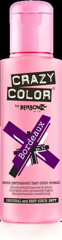 CRAZY COLOR Краска для волос (бордовый) / Crazy Color Bordeaux, 100 мл