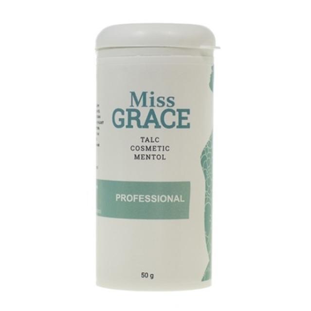 MISS GRACE Тальк косметический для депиляции с ментолом Miss Grace Professional 50 г