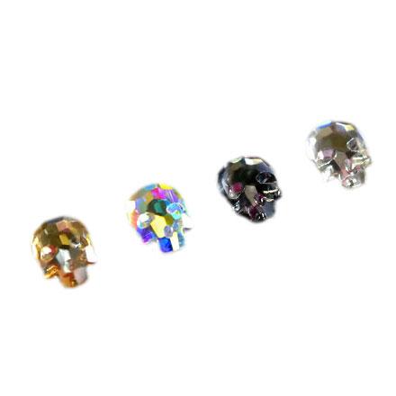 PATRISA NAIL Стразы фигурные Череп микс (4 цвета) 6*8 мм 10 шт  - Купить