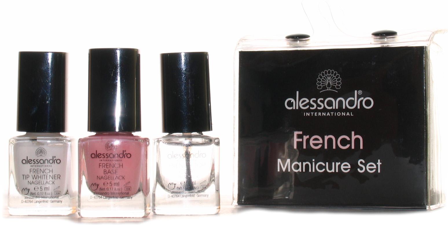 ALESSANDRO Набор для французского маникюра / French Manicure Set 3*5мл