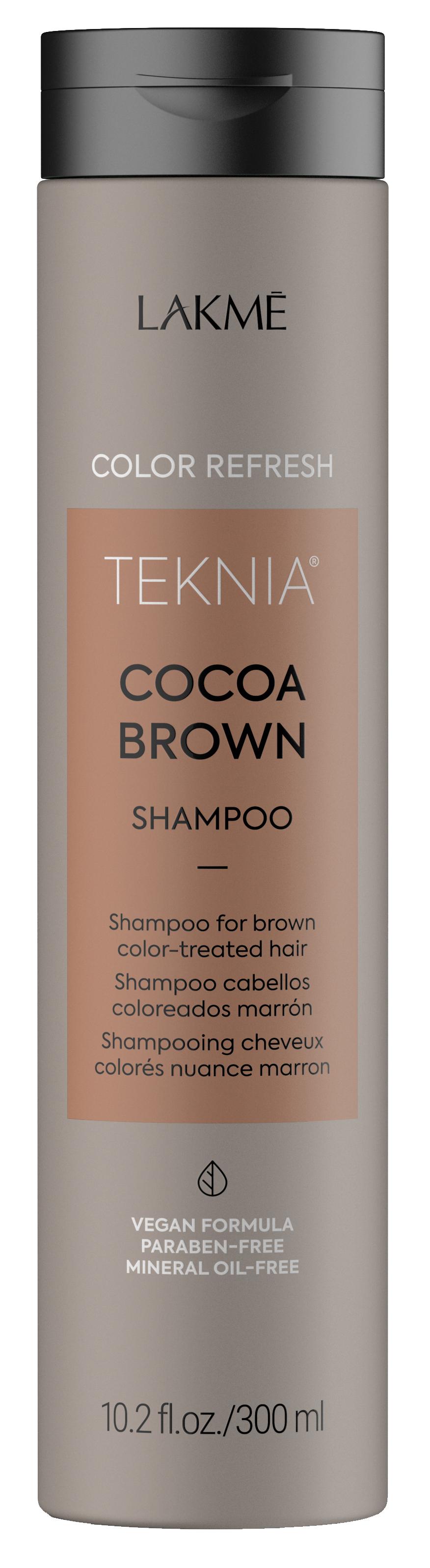 Купить LAKME Шампунь для обновления цвета коричневых оттенков волос / REFRESH COCOA BROWN SHAMPOO 300 мл