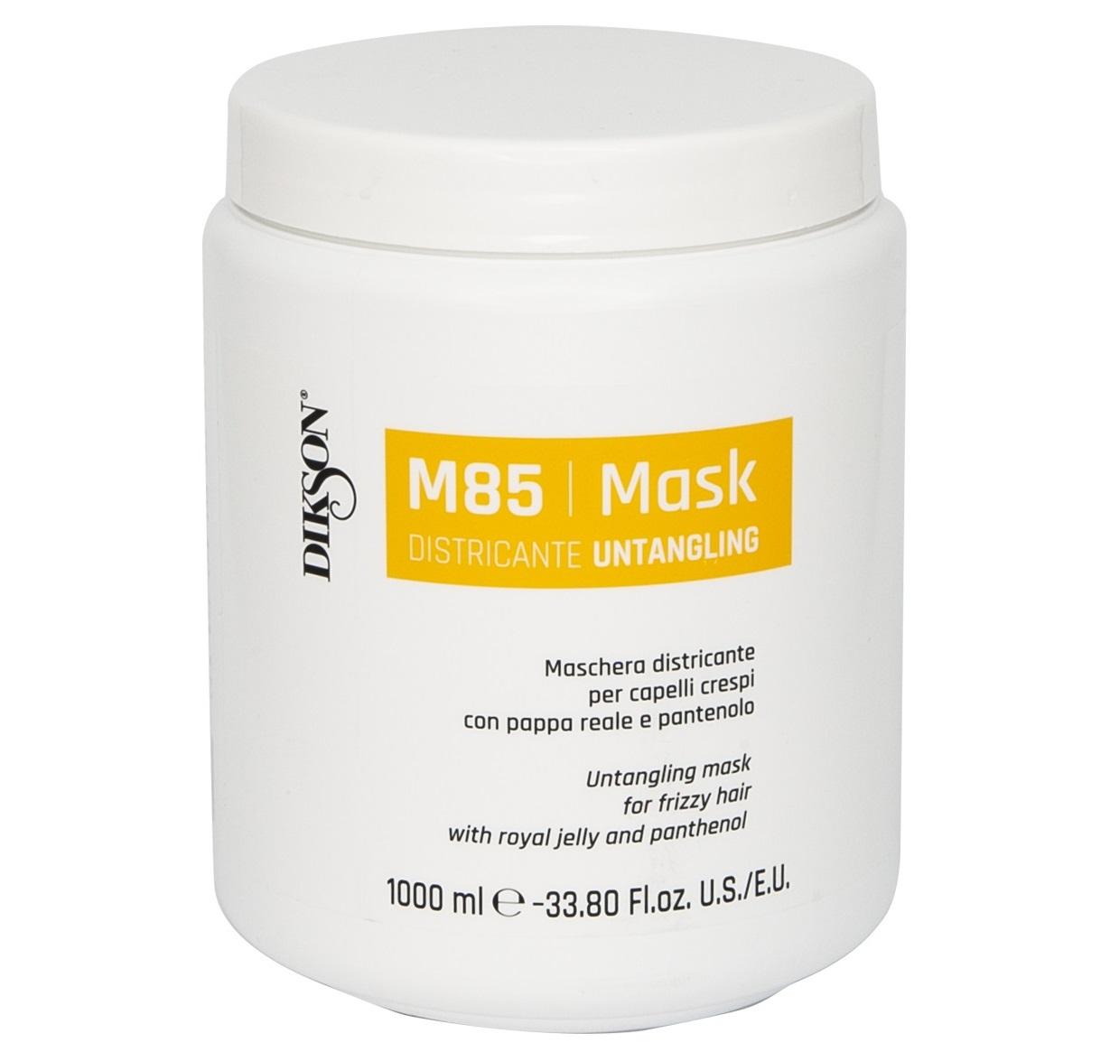 Купить DIKSON Маска для облегчения расчёсывания пушистых волос с маточным молочком и пантенолом / MASK DISTRICANTE M85 1000 мл