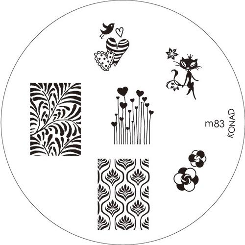 KONAD Форма печатная (диск с рисунками) / image plate M83 10гр декор для маникюра konad печатная форма диск image plate m102