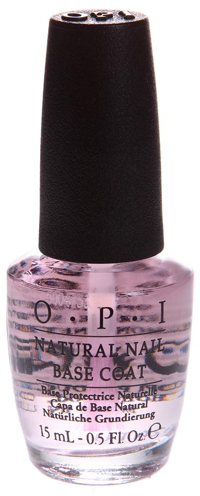 OPI Покрытие базовое для натуральных ногтей / Natural Nail Base Coat 15млБазовые покрытия<br>Обогащено кератиновыми аминокислотами, предотвращает образование пятен от лака на натуральных ногтях и обеспечивает стойкий маникюр и педикюр.<br><br>Объем: 15<br>Типы ногтей: Нормальные