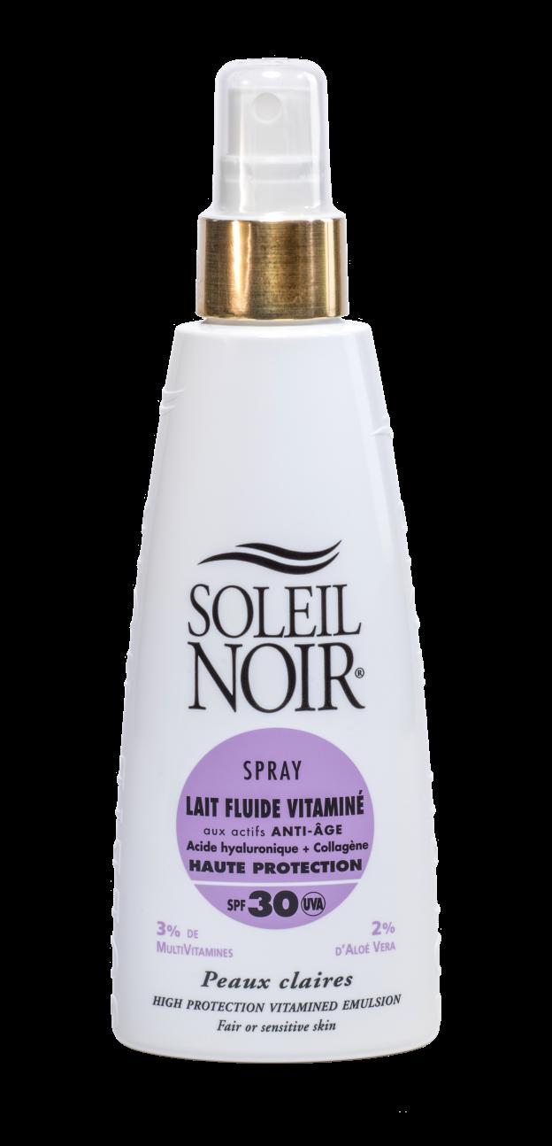 """SOLEIL NOIR Молочко спрей антивозрастной витаминизированный """"Высокая степень защиты"""" SPF30 / LAIT FLUIDE 150мл"""