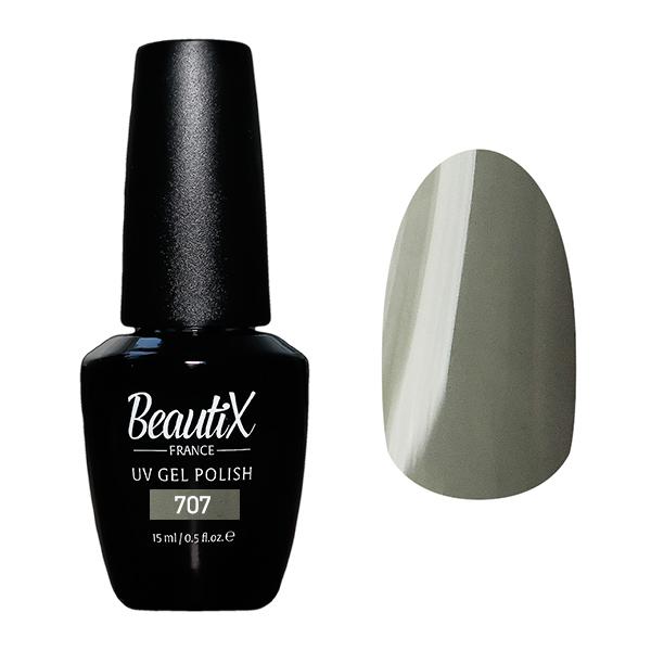 Купить BEAUTIX 707 гель-лак для ногтей 15 мл, Серые