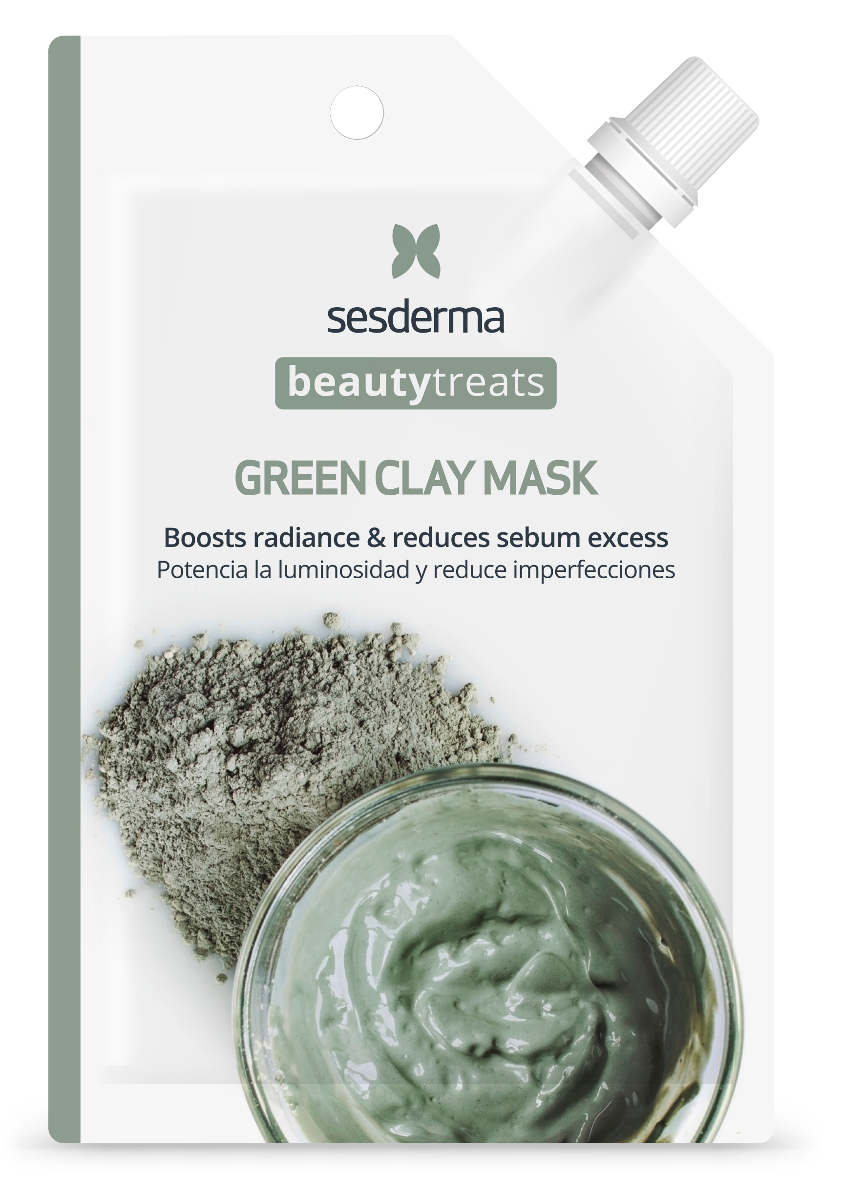 SESDERMA Маска глиняная для лица / BEAUTY TREATS Green clay mask 25 мл