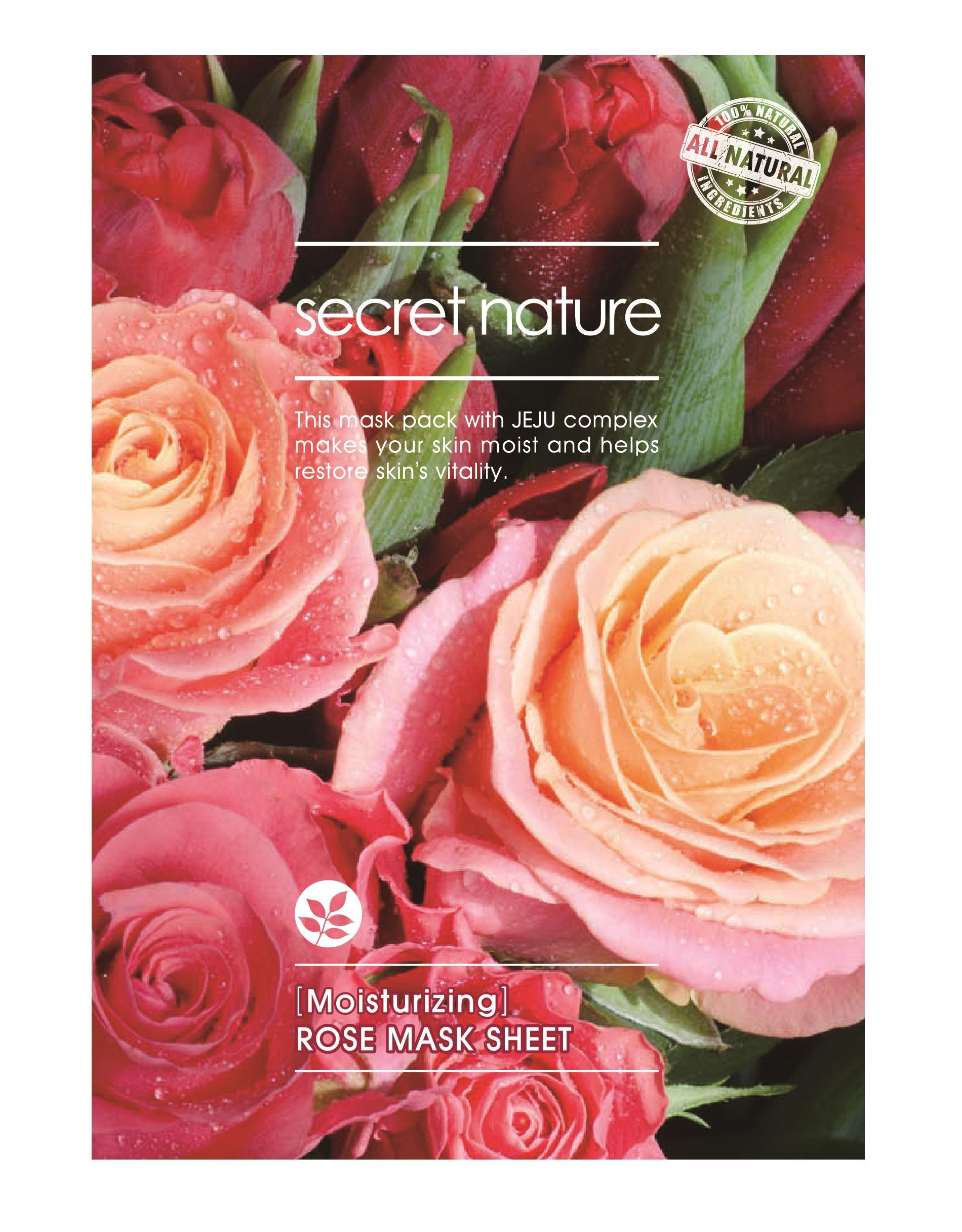 Купить SECRET NATURE Маска увлажняющая для лица с розой 25 мл