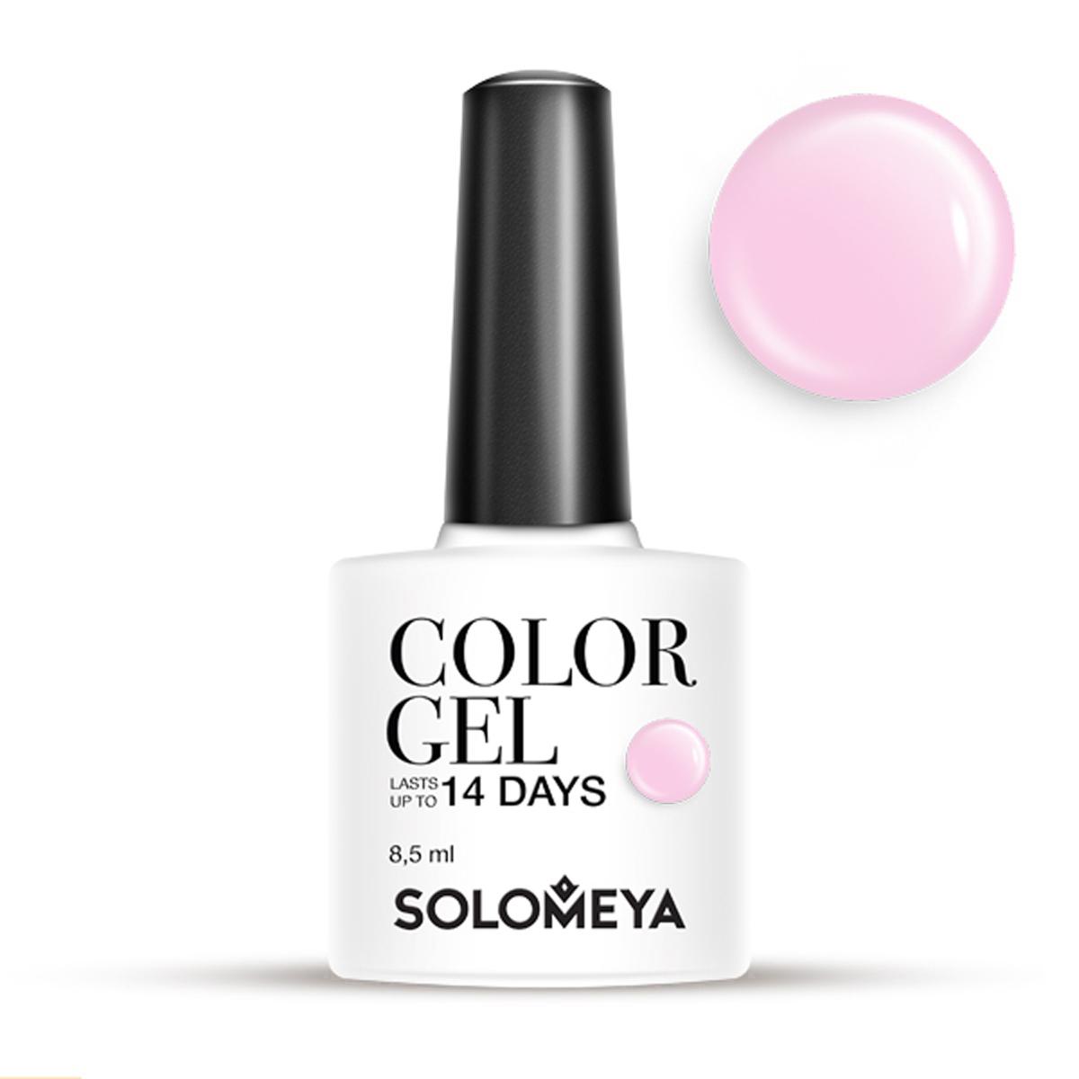 SOLOMEYA Гель-лак для ногтей SCGLE051 Розовый ирис / Color Gel Pink Iris 8, 5 мл  - Купить