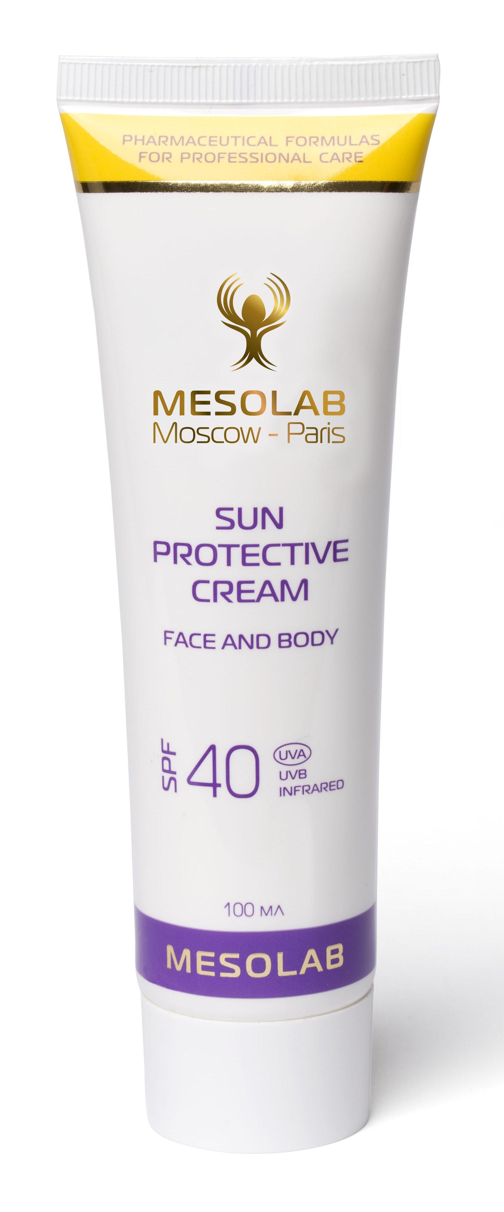 MESOLAB Крем солнечный высокая защита / SUN PROTECTIVE CREAM SPF 40 100 мл -  Кремы