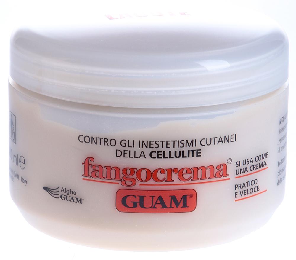GUAM Крем антицеллюлитный на основе грязи с разогревающим эффектом / FANGOCREMA 300грКремы<br>Не требует обертывания, быстро впитывается, не смывается. При наличии сосудистых звездочек и варикозном расширении вен заменить Кремом на основе грязи освежающим. Действие: Особая формула крема содержит сочетание вулканической пыли, водорослей и морской воды, обладает ярко выраженным разогревающим действием (эффект горчичника), что способствует расширению поверхностных сосудов в зоне применения. Усиление кровообращения активизирует обменные процессы в тканях, стимулирует отток жидкости, расщепление жиров, что обеспечивает эффективную профилактику и борьбу с начальными стадиями целлюлита. Активные ингредиенты: Экстракт водорослей GUAM, фитоэкстракты плюща, белой березы, конского каштана, азиатской центеллы, мальвы, зародышей пшеницы, кофеин, метилникотинат, витамин E, лимонное масло, масло земляного ореха. Способ применения: Нанесите на чистую сухую кожу и массируйте до полного впитывания. Покраснение и покалывание кожи в течение примерно 15 минут считается нормальной реакцией после применения крема.<br><br>Объем: 350<br>Назначение: Целлюлит