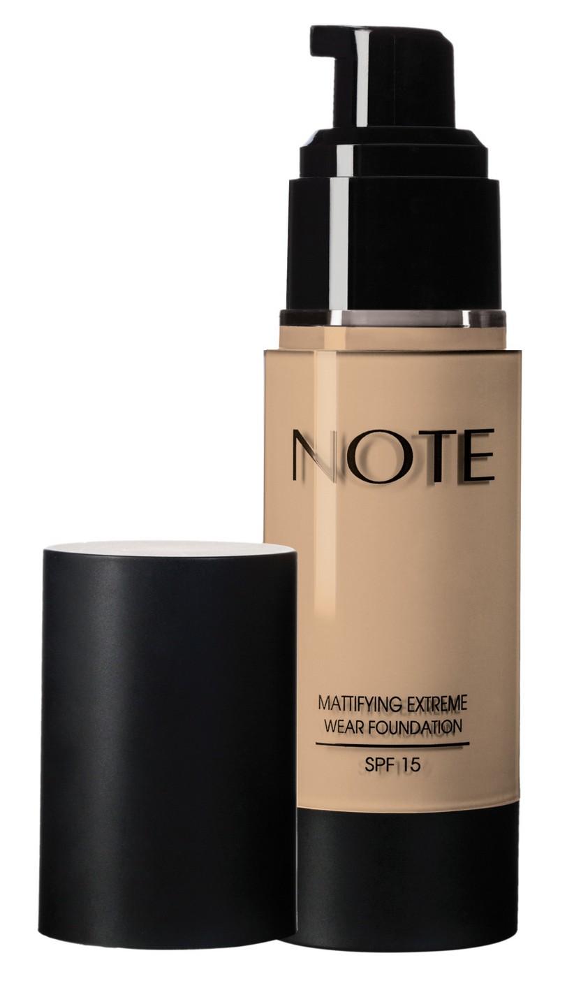 Купить NOTE Cosmetics Основа тональная стойкая с матирующим эффектом 121 / MATTIFYING EXTREME WEAR FOUNDATION PUMP SPF15 35 мл