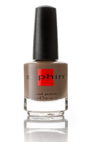 SOPHIN Лак для ногтей, светло-коричневый 12млЛаки<br>Коллекция лаков SOPHIN очень разнообразна и соответствует современным веяньям моды. Огромное количество цветов и оттенков дает возможность создать законченный образ на любой вкус. Удобный колпачок не скользит в руках, что облегчает и позволяет контролировать процесс нанесения лака. Флакон очень эргономичен, лак легко стекает по стенкам сосуда во внутреннюю чашу, что позволяет расходовать его полностью. И что самое главное - форма флакона позволяет сохранять однородность лаков с блестками, глиттером, перламутром. Кисть средней жесткости из натурального волоса обеспечивает легкое, ровное и гладкое нанесение. Big5free! Активные ингредиенты. Состав: ethyl acetate, butyl acetate, nitrocellulose, acetyl tributyl citrate, isopropyl alcohol, adipic acid/neopentyl glycol/trimellitic anhydride copolymer, stearalkonium bentonite, n-butyl alcohol, styrene/acrylates copolymer, silica, benzophenone-1, trimethylpentanedyl dibenzoate, polyvinyl butyral.<br><br>Цвет: Коричневые