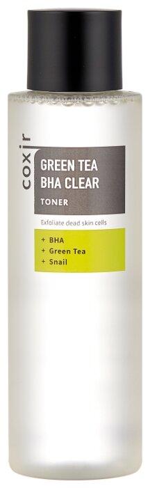 COXIR Тонер отшелушивающий с зеленым чаем и BHA-кислотами 150 мл