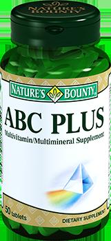 NATURE'S BOUNTY Мультивитаминный комплекс АВС Плюс, таблетки 1290 мг № 50