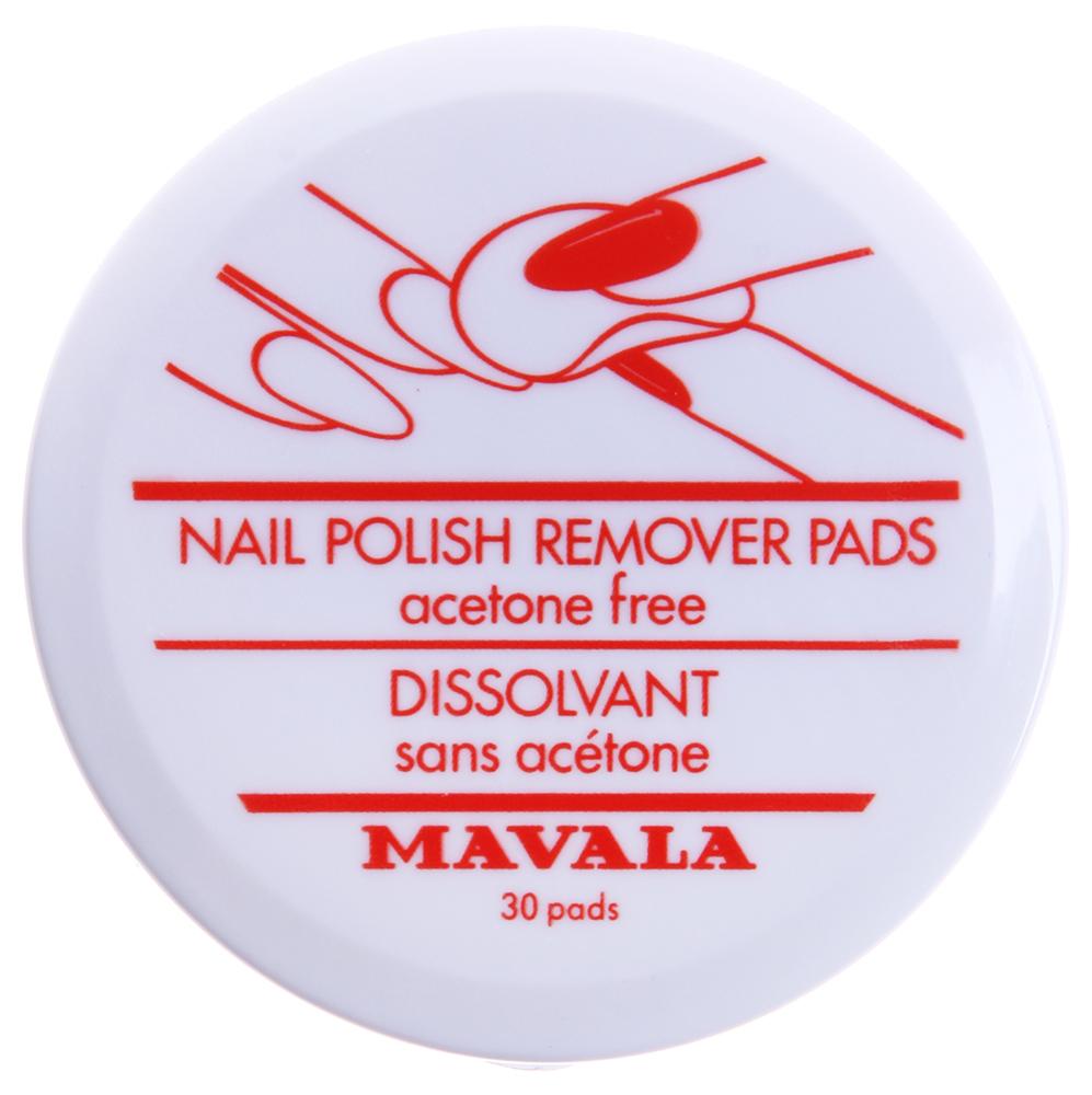 MAVALA Салфетки для снятия лака / Nail Polish Remover Pads 30шт